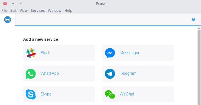 Franz: Acceda a 14 servicios de mensajería todo en un solo lugar