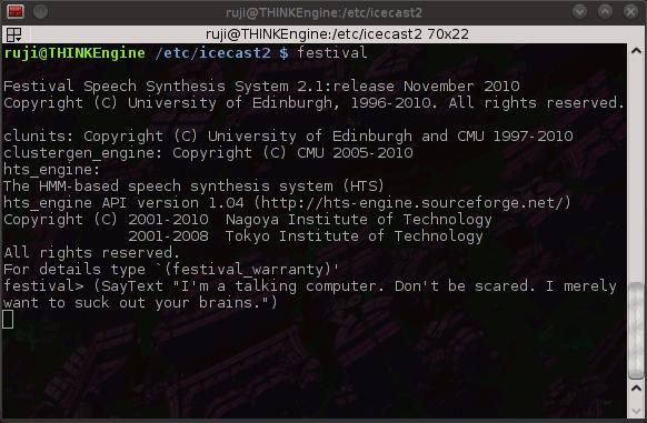 Haz que tu computadora hable con Festival[Linux]