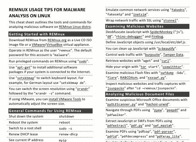 Ingeniería inversa y análisis de malware con REMnux