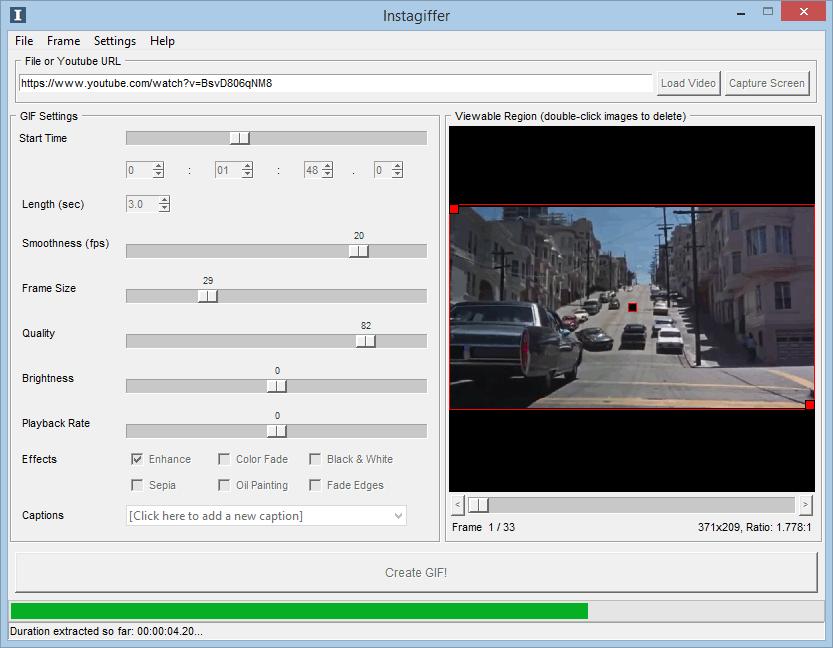Instagiffer - Software Libre para Hacer GIFs en Windows