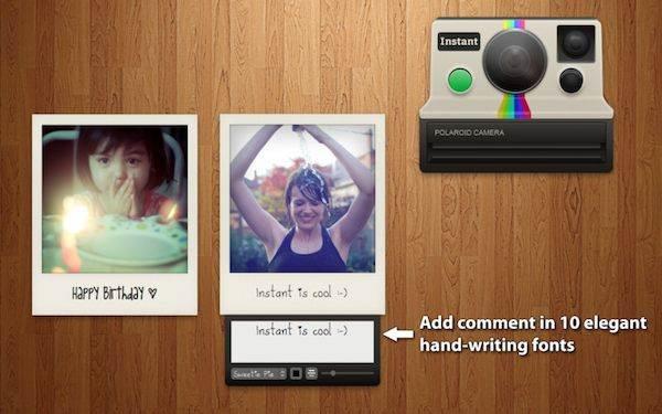 Instantáneo, la aplicación Polaroid para Mac