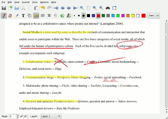 La toma de notas en el Tablet es fácil con Xournal