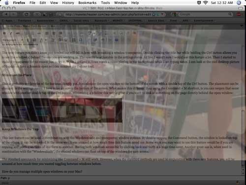 Mac: Gestione su aplicación Windows de forma más eficiente con Windowshade X