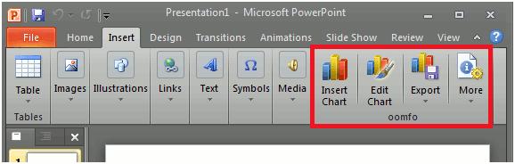 Oomfo: Cree gráficos impresionantes para presentaciones en PowerPoint