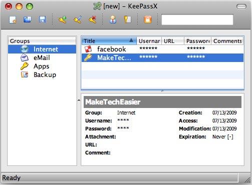 Proteja su contraseña con KeePassX