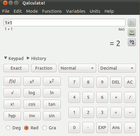 Qalculate es una potente calculadora para Linux