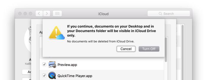 Resolución de problemas con iCloud Desktop y sincronización de documentos en macOS Sierra
