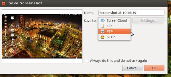 ScreenCloud le permite tomar capturas de pantalla y guardar en la nube[Ubuntu]