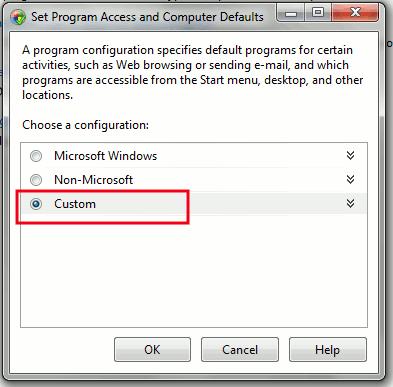 Snippet: Eliminar IE como el navegador web predeterminado en Windows 7