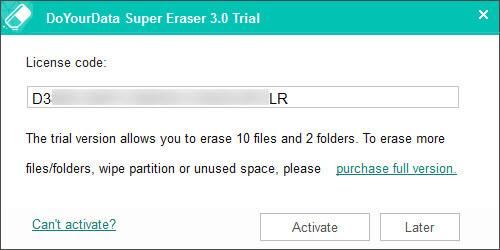 Super Borrador - Una forma segura de borrar sus datos
