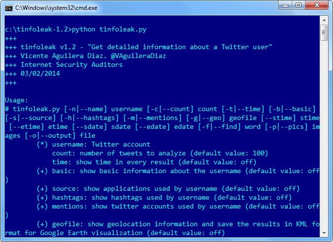 Tinfoleak le permite recopilar los datos personales de una cuenta de Twitter