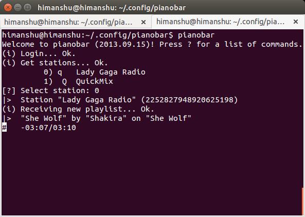 Usar Pianobar para escuchar Pandora desde la línea de comandos de Linux