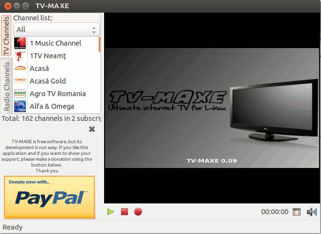 Usar TV-maxe como alternativa a Sopcast en Linux