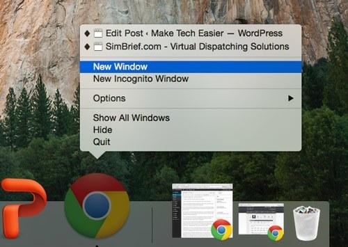 Uso del Dock OS X como un reemplazo de Command+Tab
