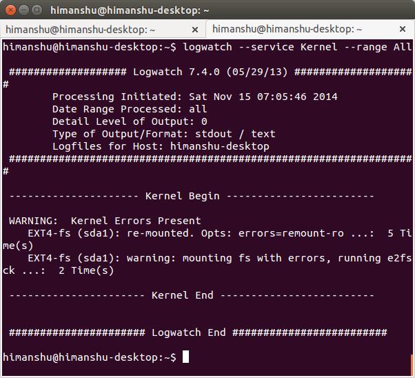 Vigilante de troncos: Potente analizador de registros de sistemas y reportero para Linux