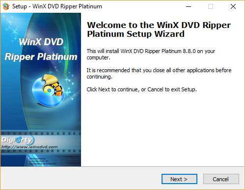WinX DVD Ripper Platinum - Convertir rápidamente discos a digital