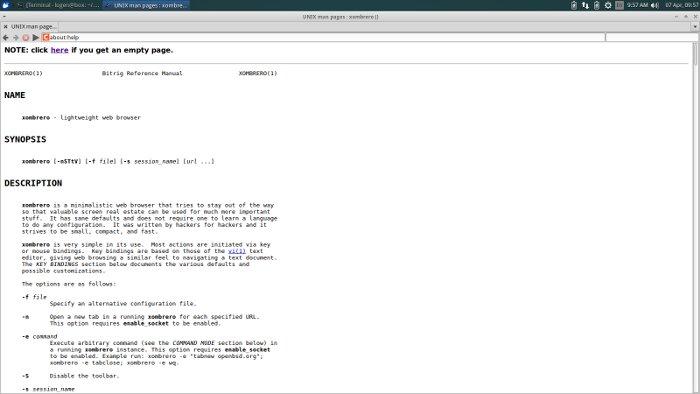 Xombrero: Un navegador minimalista con enfoque en la seguridad