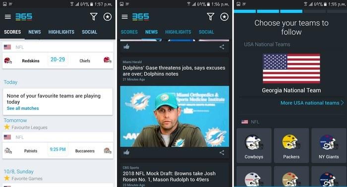 5 de las mejores aplicaciones Android para los fans de la NFL
