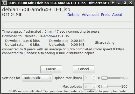 Comentarios de los clientes de Linux Torrent