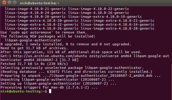 Cómo configurar la autenticación de dos factores en Ubuntu