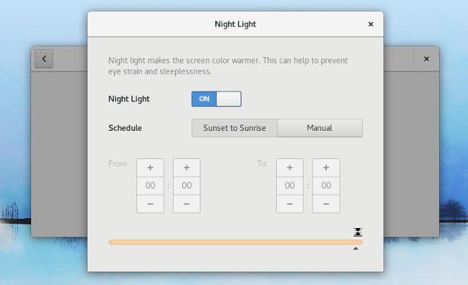 Cómo configurar la temperatura de color en la luz nocturna de GNOME