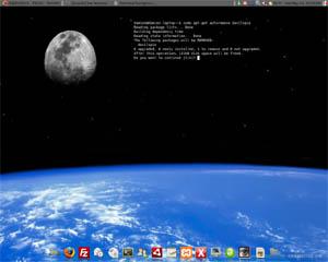 Cómo] Configurar la terminal como un fondo de pantalla transparente en el escritorio de Ubuntu
