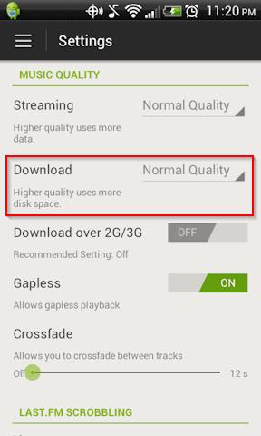 Cómo conservar espacio al usar Spotify en Android