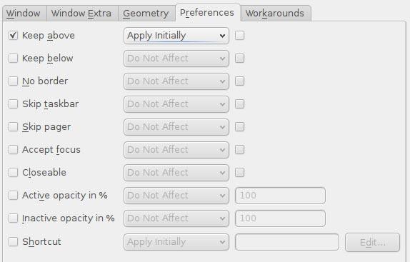 Cómo establecer ajustes especiales de ventanas con KWin
