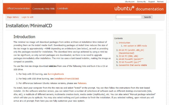 Cómo instalar Ubuntu mínimo en su antiguo PC