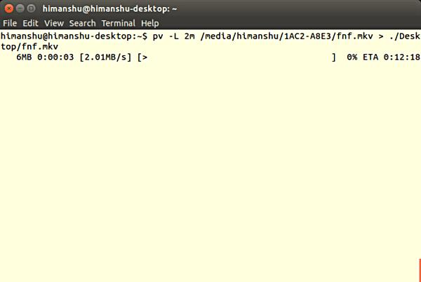 Cómo monitorizar el progreso de una operación en la línea de comandos de Linux utilizando el comando PV