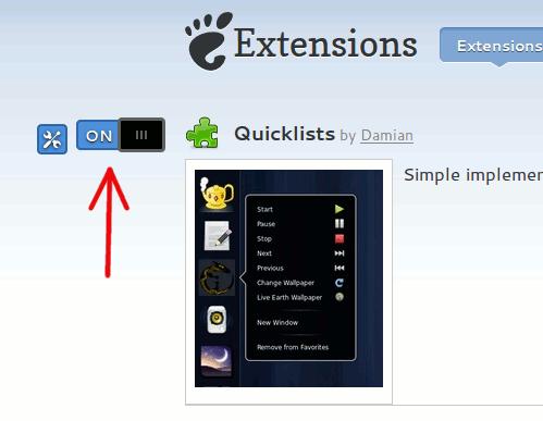 Cómo usar la lista rápida de Unity en Gnome Shell
