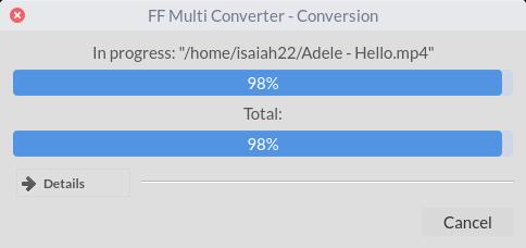 Convertir entre varios formatos de archivo en Linux con FF Multi Converter