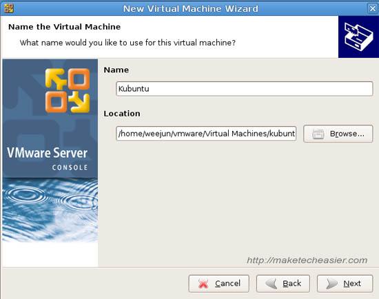 Instalación de (K)Ubuntu en Ubuntu con VMware Server