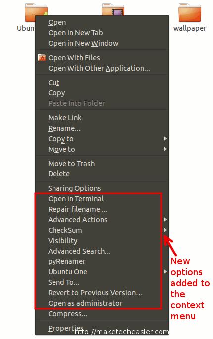 Nautilus Actions Extra añade muchas opciones útiles a tu menú contextual[Ubuntu Nautilus]