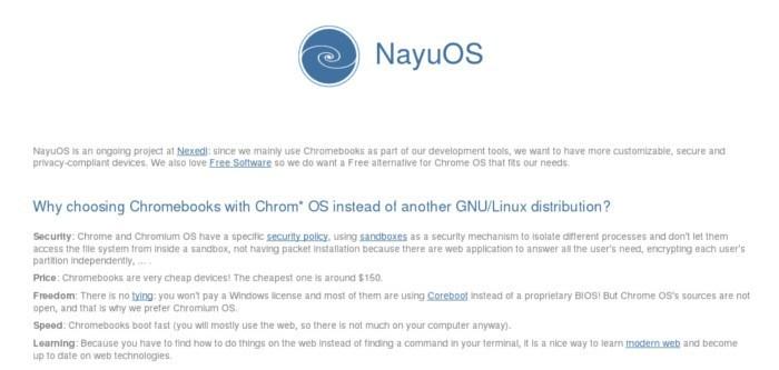 NayuOS: Una horquilla de sistema operativo cromada para desarrolladores