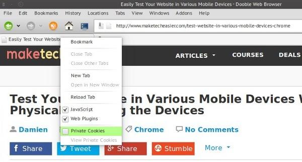Presentamos Dooble, un navegador centrado en la privacidad