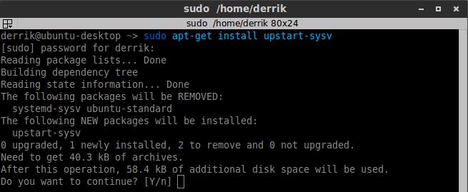 Re-activar Upstart en Ubuntu 15.04