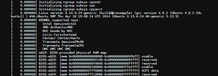 Usando dmesg en Linux