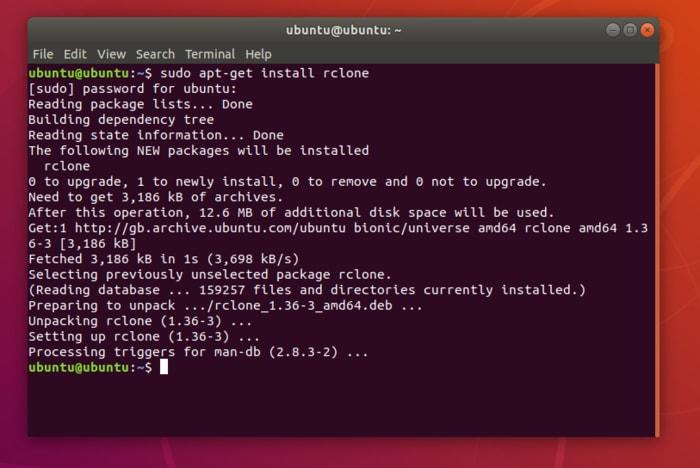Uso de Rclone para sincronizar con múltiples proveedores de almacenamiento en nube en Linux