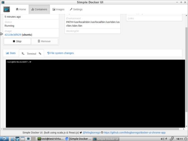 La interfaz de usuario de Google Chrome con Simple Docker UISimple Docker es una aplicación basada en Chrome que te permite instalar, administrar y modificar las imágenes del Docker. A continuación se explica cómo instalarlo, configurarlo y utilizarlo.