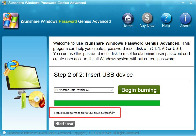 Cómo restablecer la contraseña de Windows con iSunshare Windows Password Genius