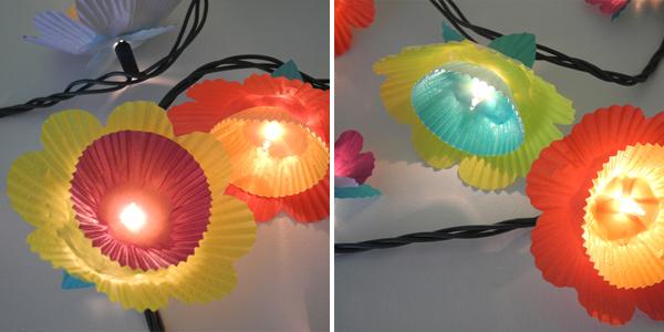 Cómo hacer Increibles Luces de Flores con Papel de Madalena