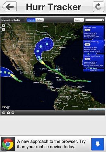 Aplicaciones para ayudar a rastrear huracanes[iOS]