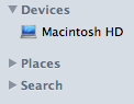 Cambiar las categorías de Sidebar en Finder e iTunes