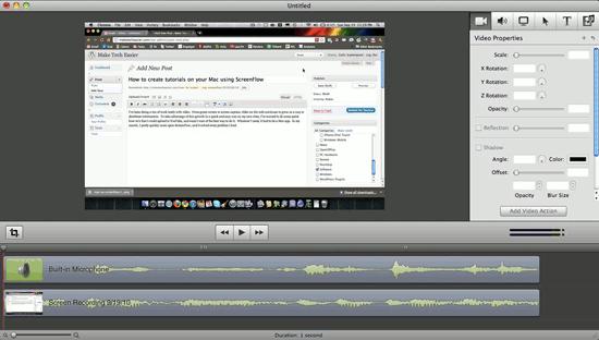 Cómo crear tutoriales en vídeo en su Mac utilizando ScreenFlow