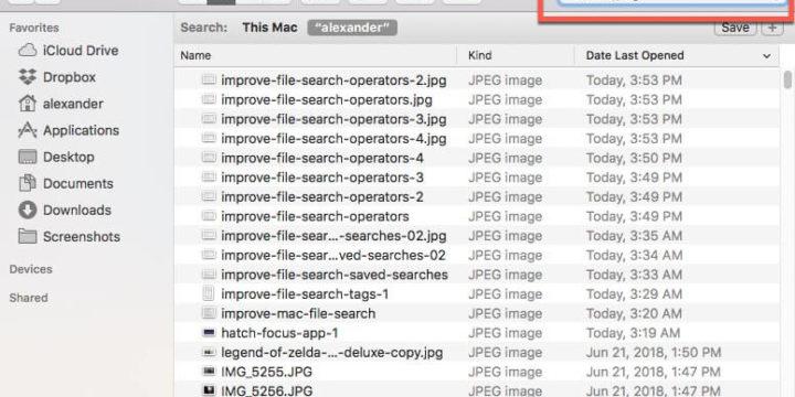 Cómo mejorar la búsqueda de archivos en macOS