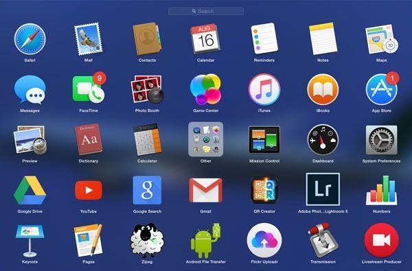 Cómo organizar tus aplicaciones usando LaunchPad en OS X
