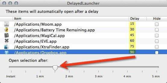 Cómo retrasar el tiempo de inicio de sus elementos de inicio de sesión[Mac]