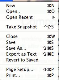 Composiciones: Un editor de texto mínimo con función de instantánea
