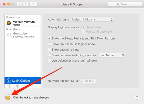 Eliminar su nombre de la barra de menús de su Mac